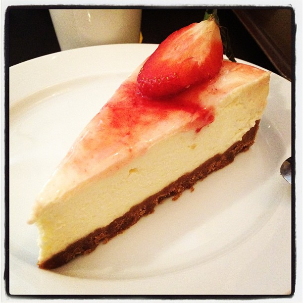 cheesecake at my favourite stockholm café