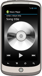 Mockup for an MP3 player app.