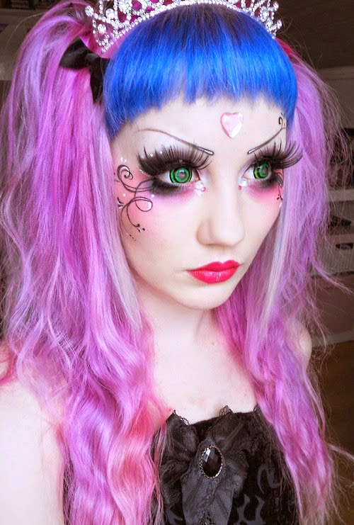 The Goblin Princess Makeup Look with Phantasee Mini Sclera Green Goblin Lenses