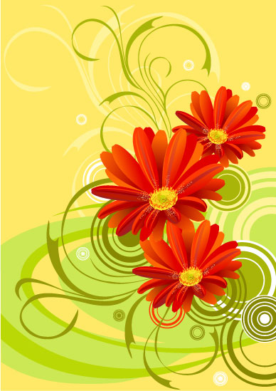 art flowers background wallpaper - photo #21