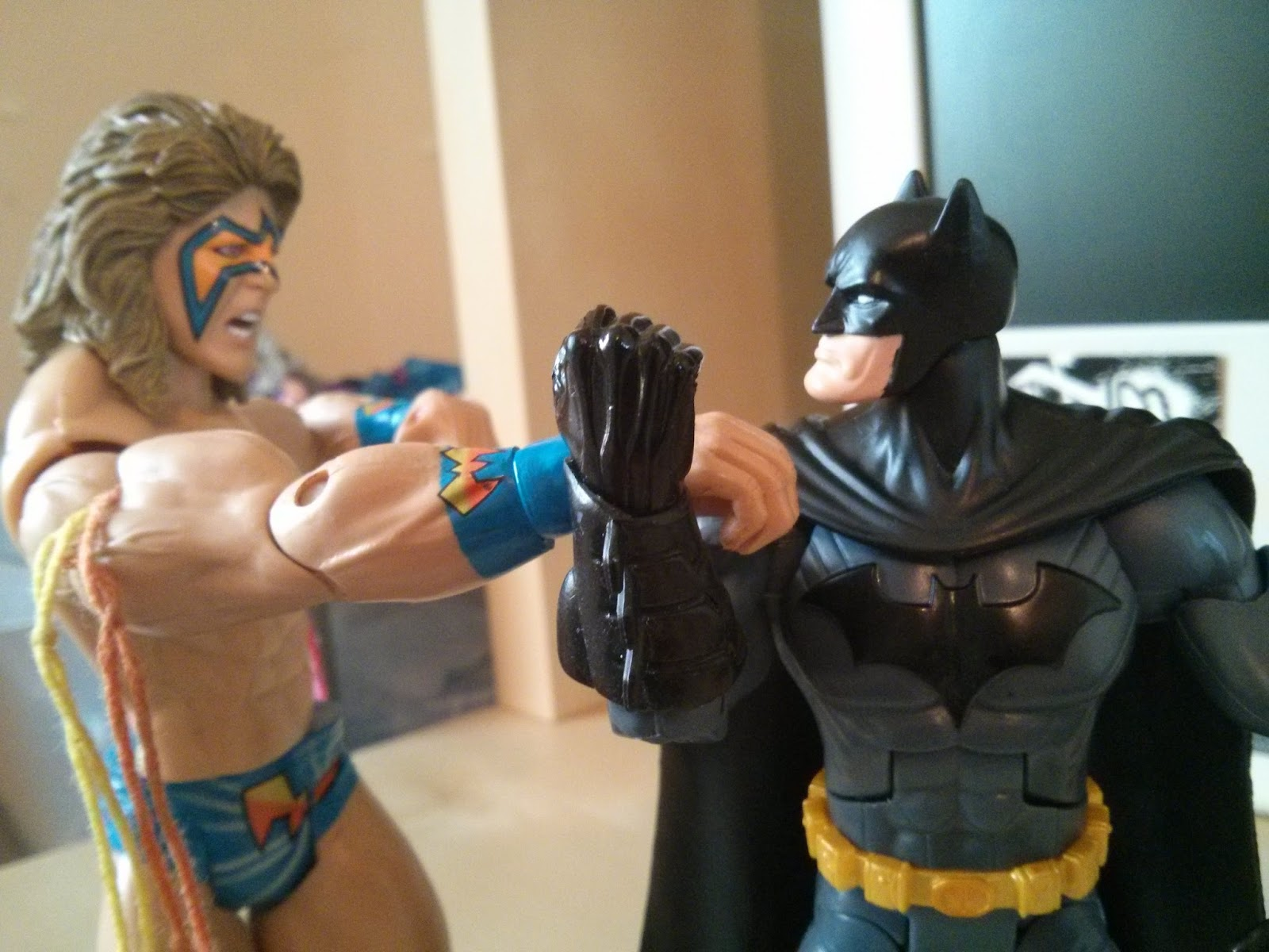 batman vs ultimate warrior!