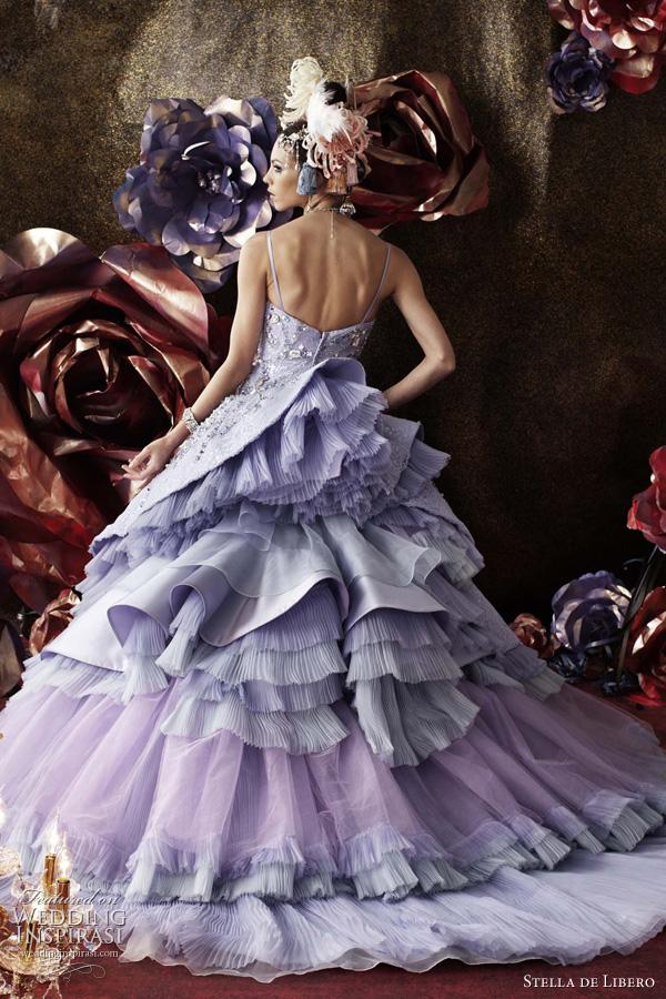 Wedding Lady Light Purple Excellent Bridal Gown