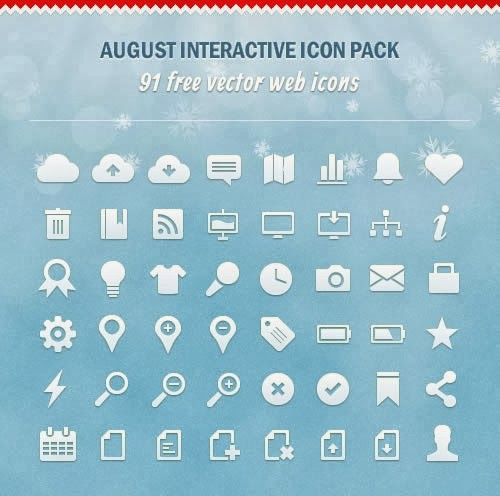 August Interactive Vector Icons