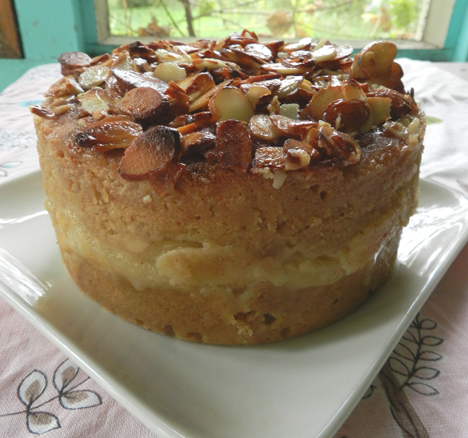 delicious Pear and Almond Cake with lovely caramelly slivered almonds ...