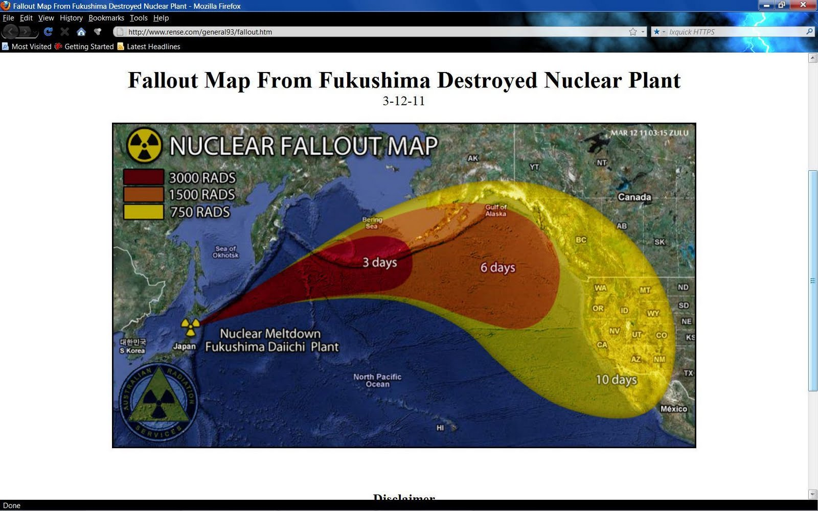 Nevada Nuclear Fallout Map - Fallout map of the us