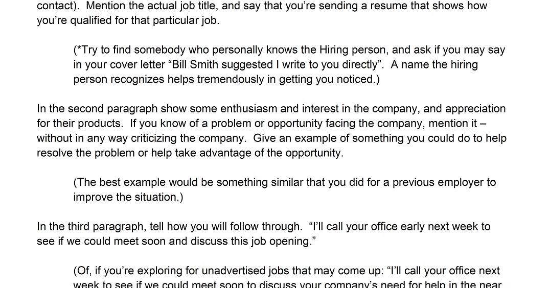5 Free Cover Letter Templates For Resume And 10 Best Resume Writing Tips