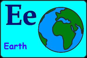 Карточка английской буквы E