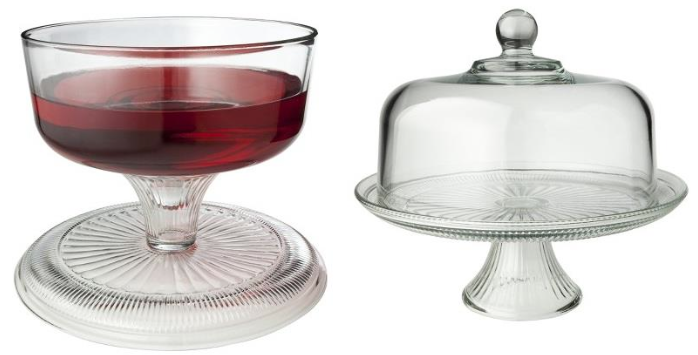 This 12-inch Cake Set is a two-piece set; a cake dome and a cake plate. The set can can be used two-ways; as a cake stand with cover ...  sc 1 st  Ina\u0027s Fabulous Finds & Ina\u0027s Fabulous Finds: Anchor Hocking Cake Stand Sets