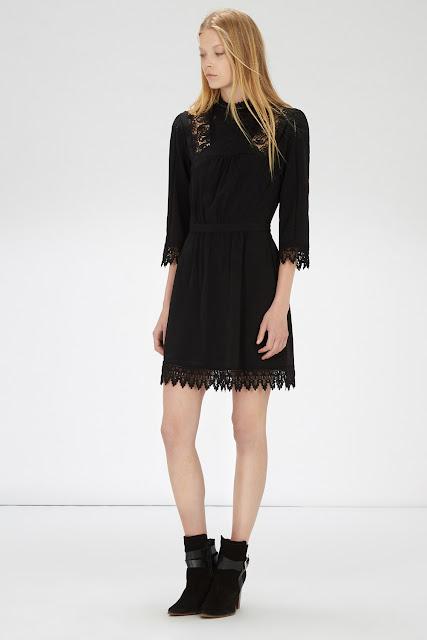 black victoriana dress, warehouse black lace edge dress, black lace edge dress,