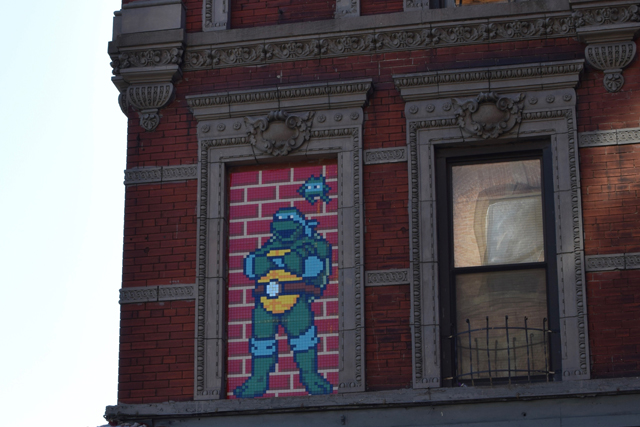 A Day In The Lalz; Travel Blog; NYC; New York City; Street Art NYC; NYC Itinerary; Fun Things to Do in NYC; Ninja Turtle by Invader; 277 Broome St