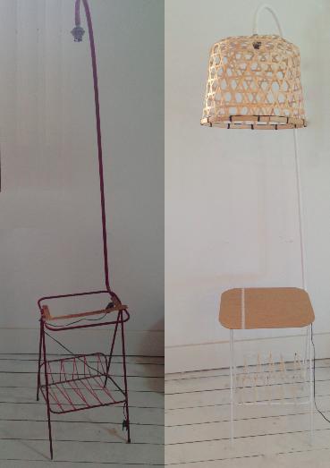 avant apr s lampe porte revues scandinave caract rielle. Black Bedroom Furniture Sets. Home Design Ideas