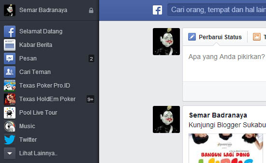 tampilan facebook terbaru 2013