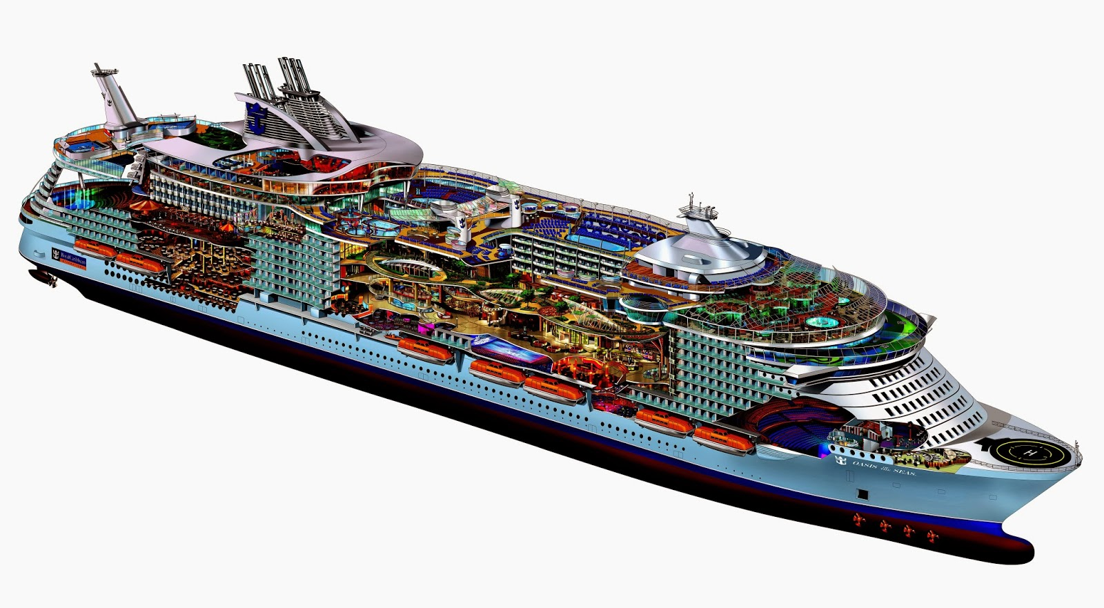 Zwitserw maritiem oasis of the seas het grootste cruiseschip van de wereld - Vloerlamp van de wereld ...