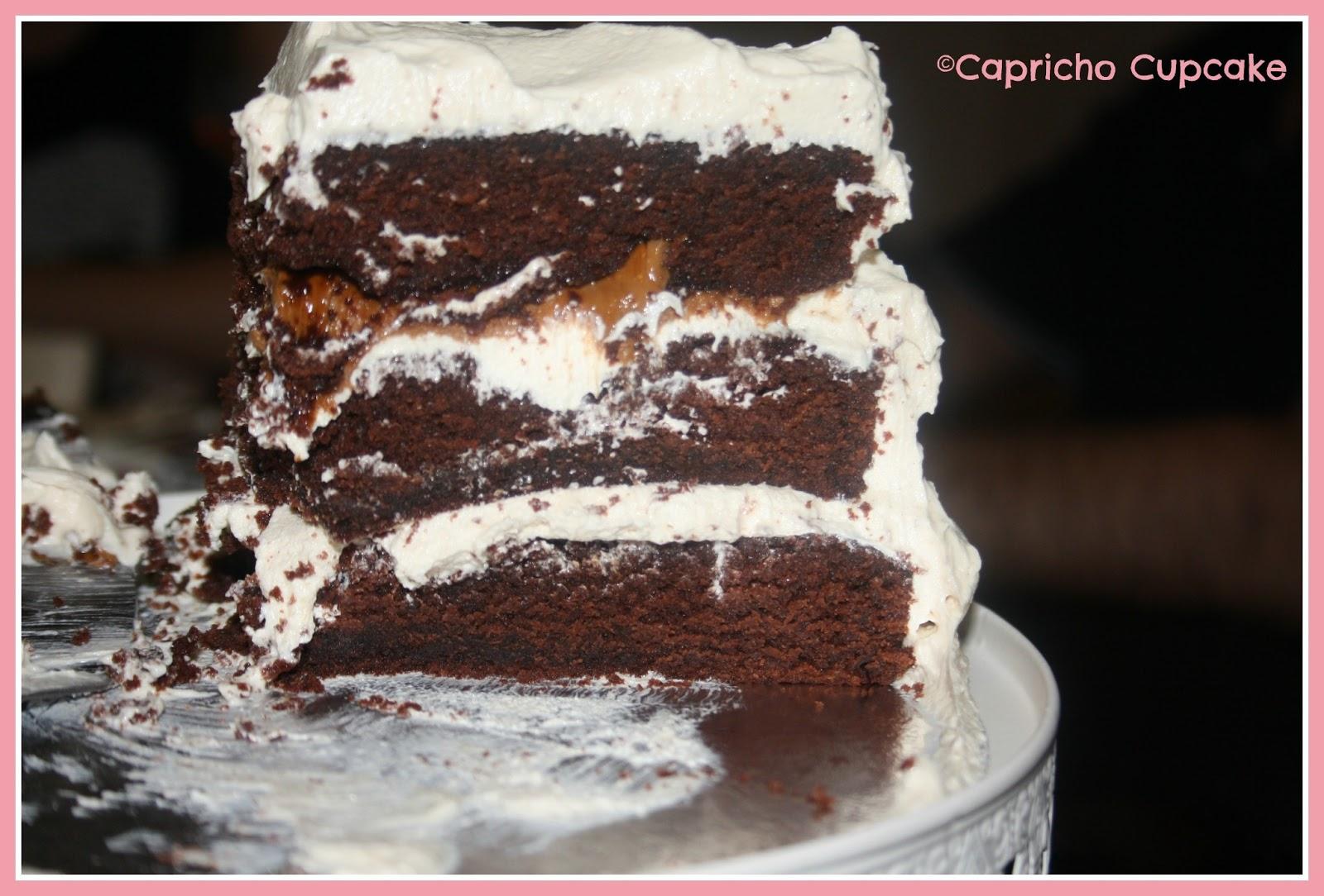 tarta layer cake chocolate y avellana capricho cupcake