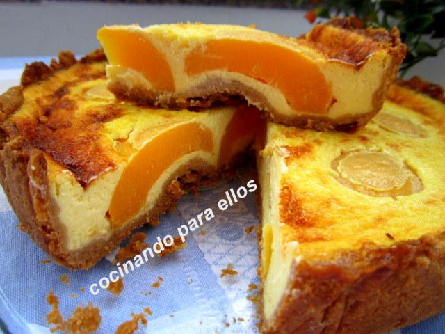 Cocinando para ellos tarta de requeson con melocotones - Cocinando para ellos ...