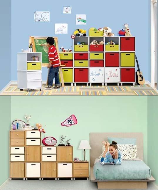Otthon Ötlet: 11 tárolási megoldás a gyerekszobában
