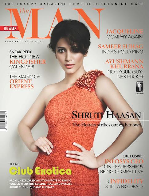 Shruti Haasan Cover Girl The Man Magazine January 2013