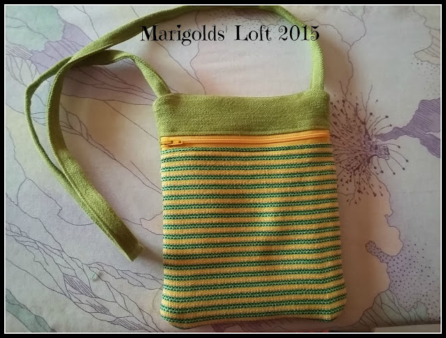 handwoven fabric runaround project zip it up