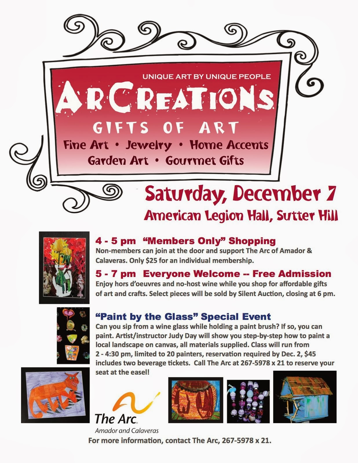"ArCreations ""Gifts of Art"" - Dec 7"