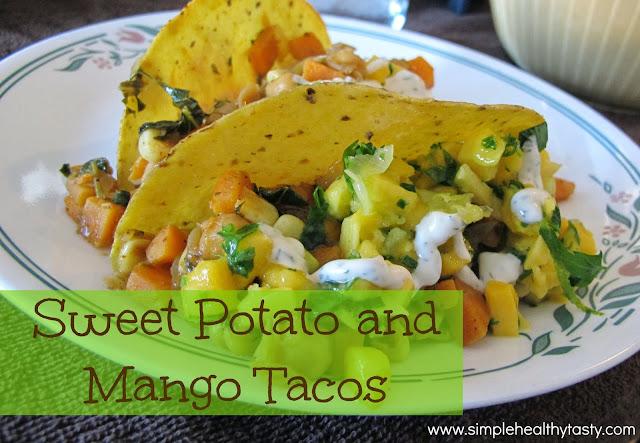 Tacos with Sweet Potato and Mango