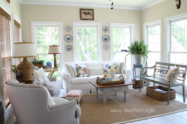 I Love My Sun Room And This Was The Spring/summer Look Reveal In 2012. I  Also Shared This On Hometalk And It Went Nuts On There.