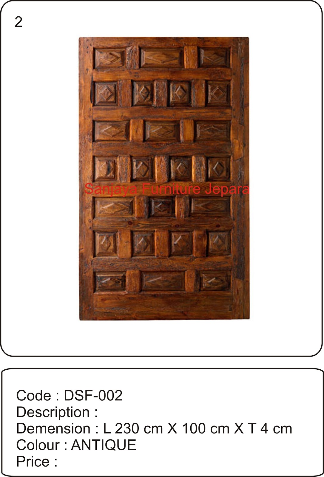 Block teak doors sanjaya furniture jepara for Furniture jepara