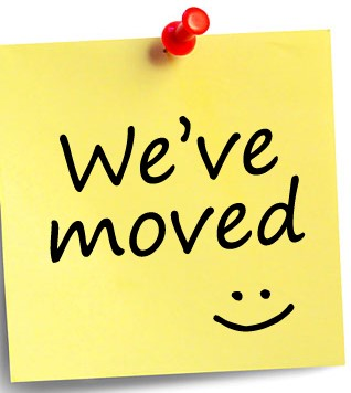 We've moved.....