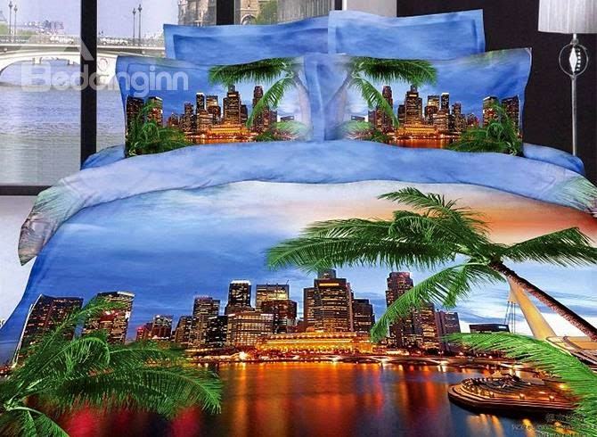 http://www.beddinginn.com/product/Modern-City-And-Palm-Tree-Reactive-Printing-Blue-Color-4-Piece-Bedding-Sets-Duvet-Cover-10563706.html