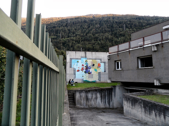 Abstract Street Art By Italian Artist Etnik In Tirano, Italy. 3