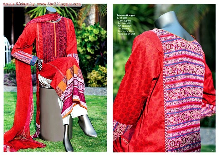 Junaid Jamshed- Midsummer Suits from Magazine