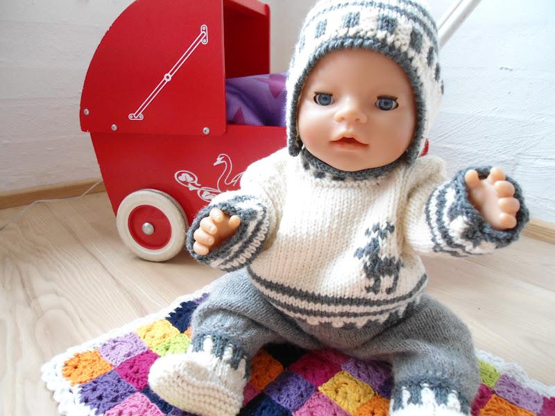 strikket dukketøj baby born
