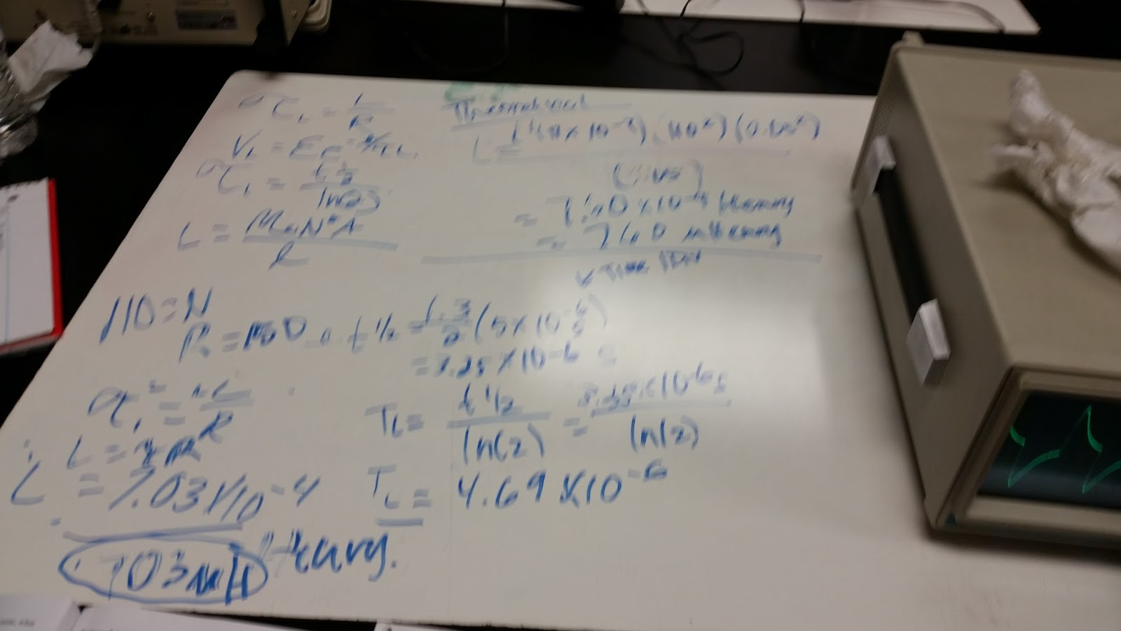 Physics 4b Yhung If We Increase The Inductance In An Rl Circuit What Happens To Percent Error Is 75 From Our Theoretical Calculations Of Inductor Used Which Pretty Good