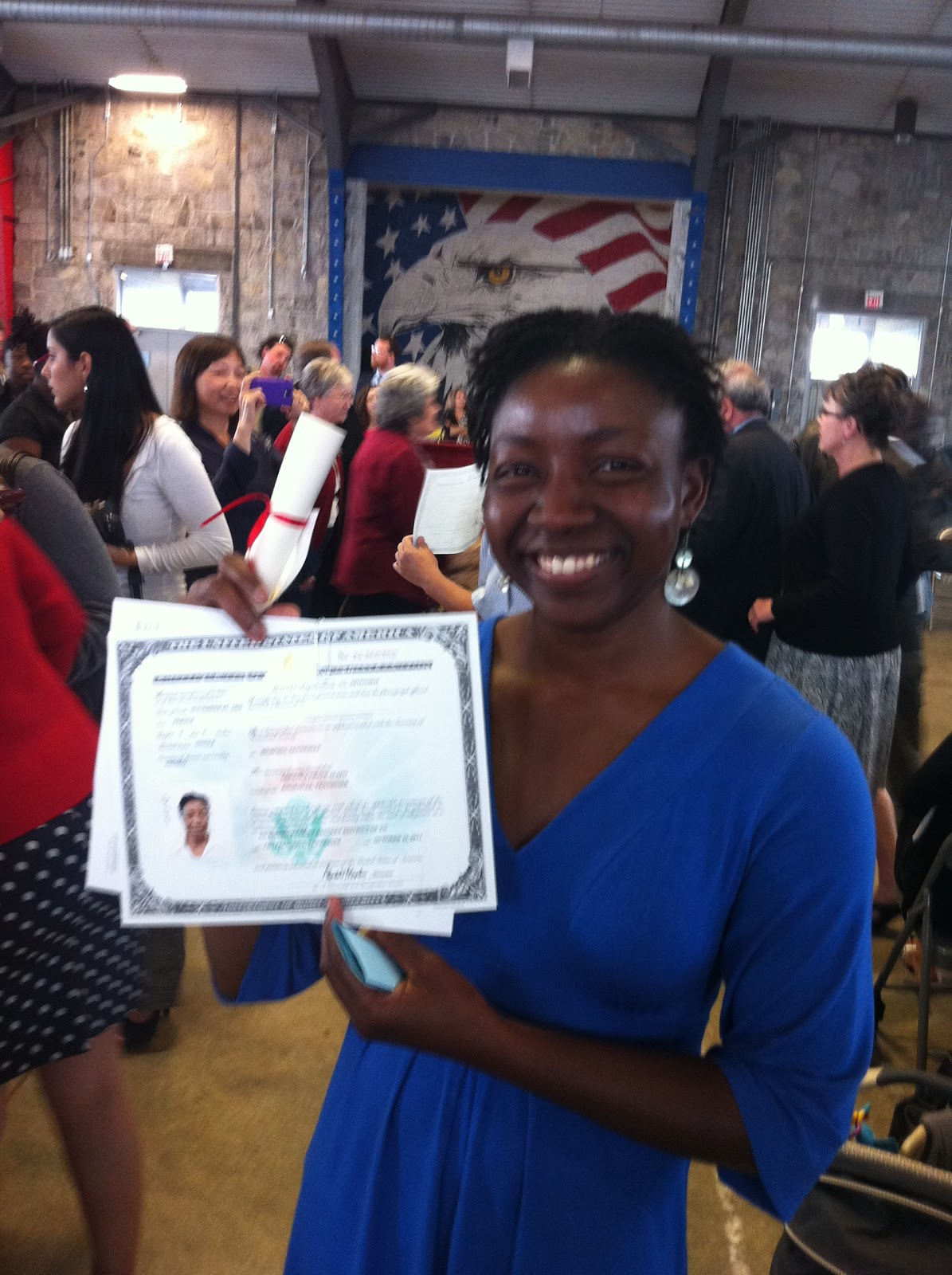 Lola alapo i am officially an american my naturalization certificate xflitez Images