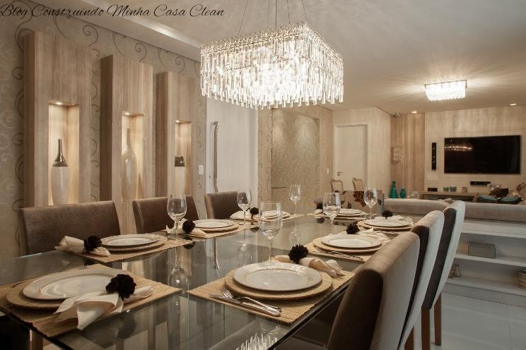 Posso Usar Lustre Na Sala De Estar ~  de cristais na sala de jantar e na sala de estar um plafon de cristais