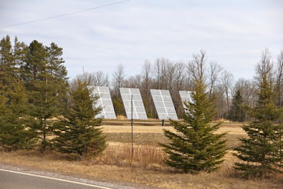 solar panels, northeastern Minnesota