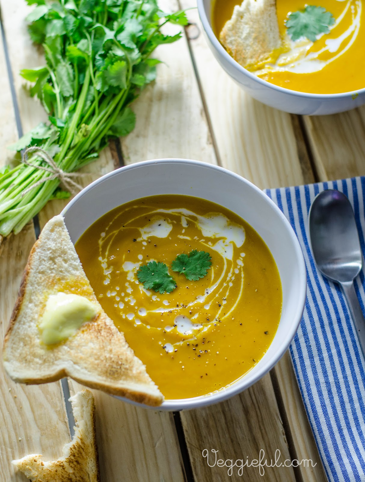 Veggieful: Thai Red Curried Pumpkin Soup