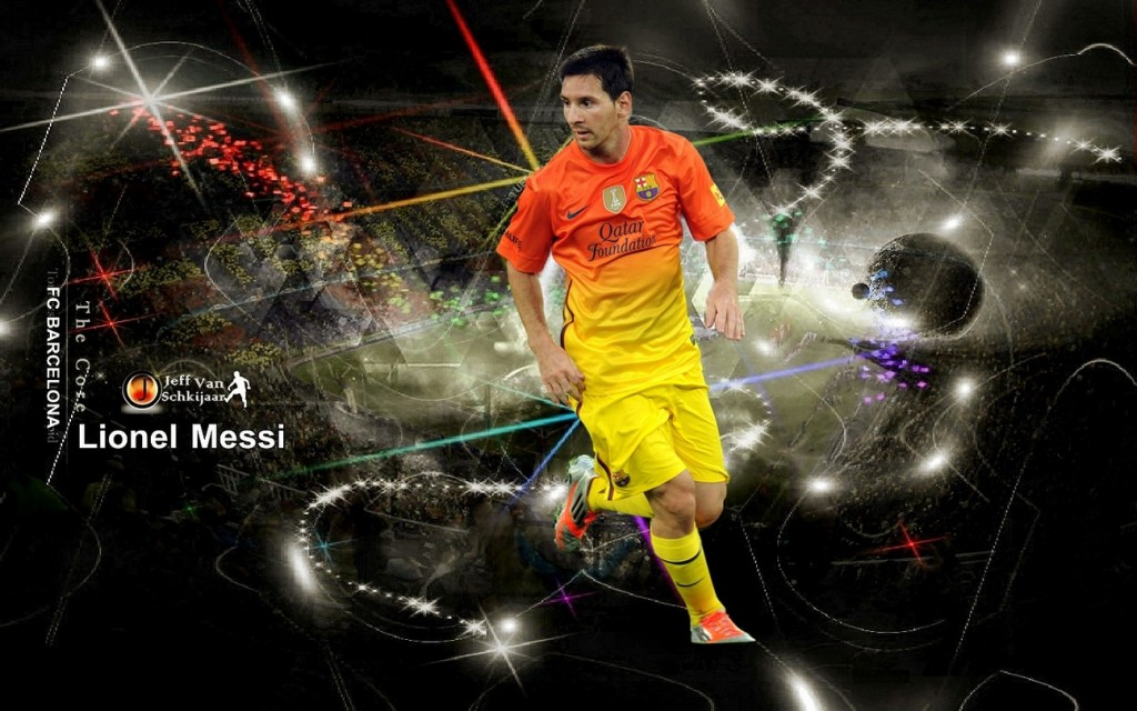Lionel Messi Barca Player  HD Wallpaper 2013