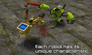 Screenshots of the Robot Battle for Android tablet, phone.