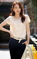 Embroidered Lace Chiffon Top