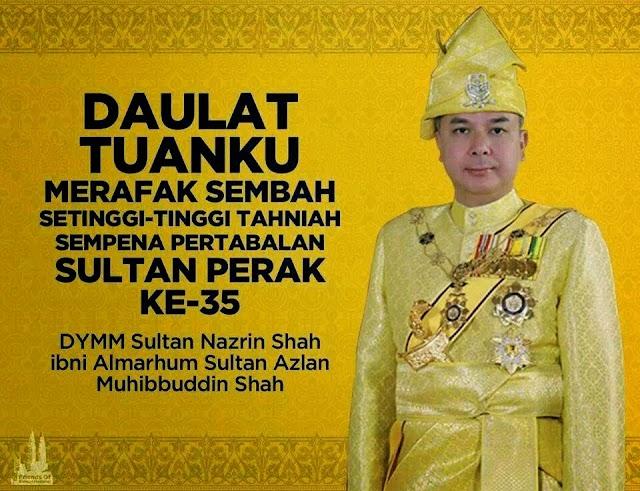 Raja Nazrin Sah Kini Sultan Perak Yang Baru!
