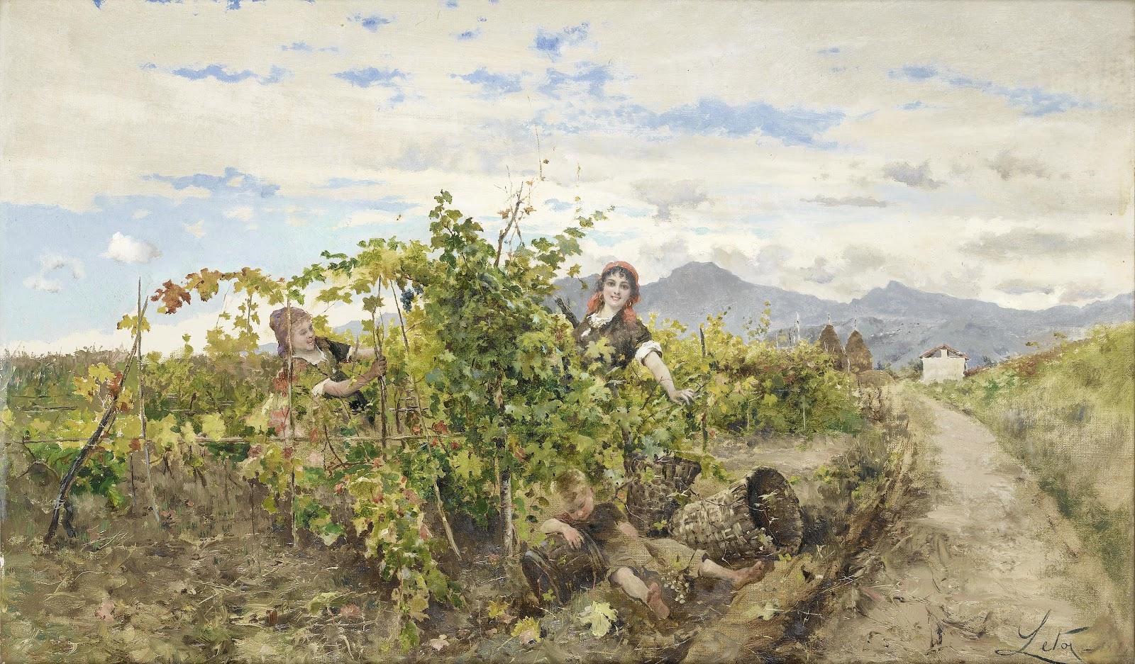 Antonino Leto Ragazze raccolta uva