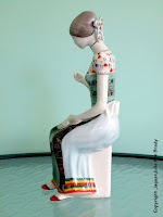 Hollohaza Hungarian Porcelain 1831 Seamstress