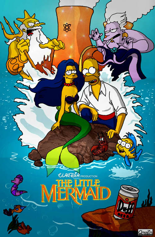 posters cinema simpsons - The Little Mermaid