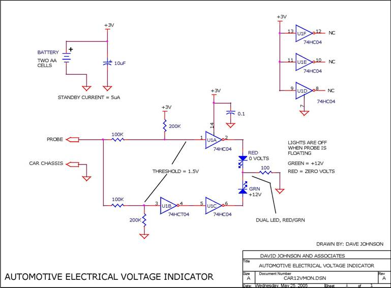 12v Automotive System Voltage Indicator