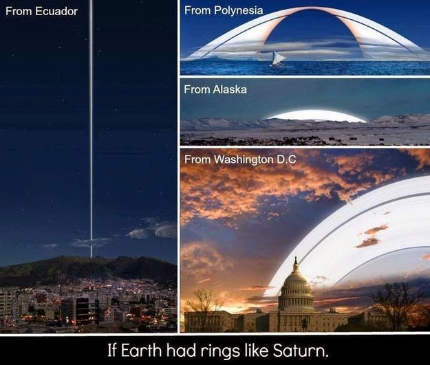 26 Pictures Will Make You Re-Evaluate Your Entire Existence - AND JUST FOR GOOD MEASURE, HERE'S WHAT SATURN'S RINGS WOULD LOOK LIKE IF THEY WERE AROUND EARTH
