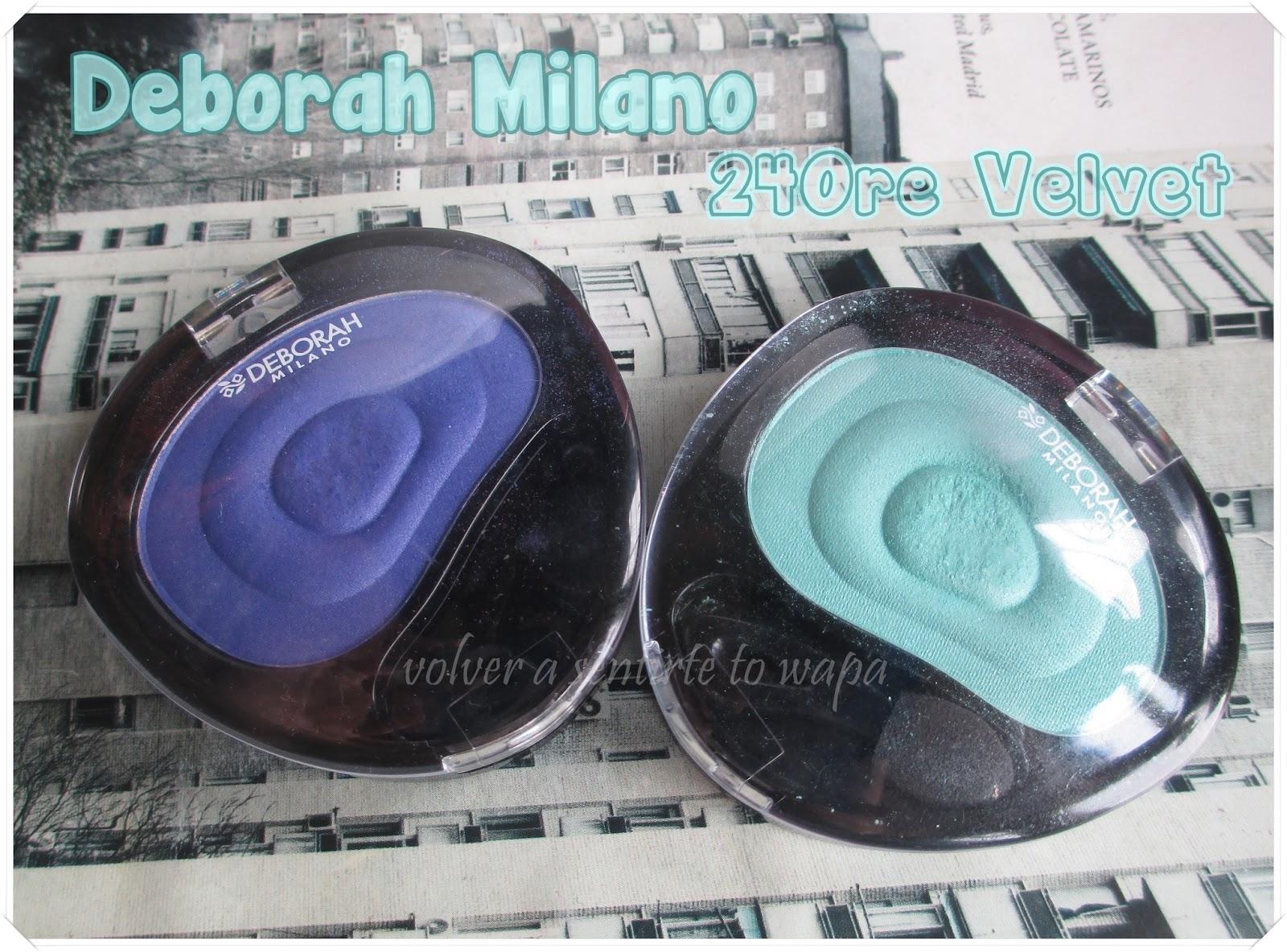 DEBORAH MILANO - sombras de ojos 24Ore Velvet