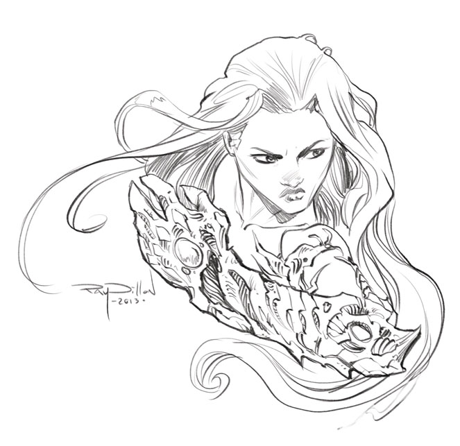 witchblade that kinda ended up looking like kristen stewart bella from twilight