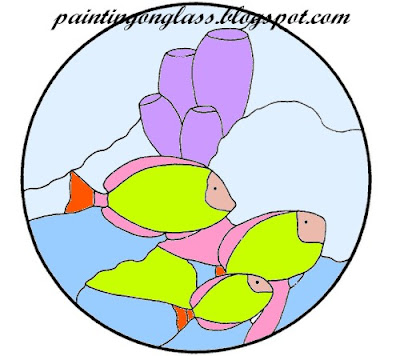 stained glass patterns for free: Stained glass fish patterns
