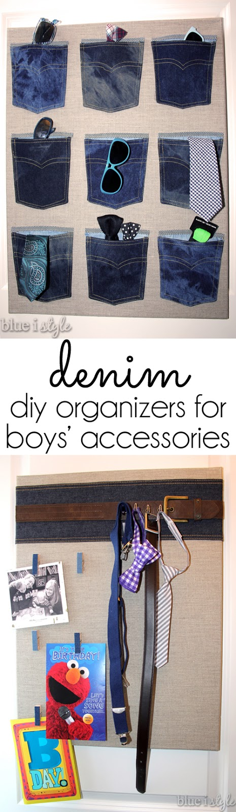 DIY menswear inspired organization for boy's room