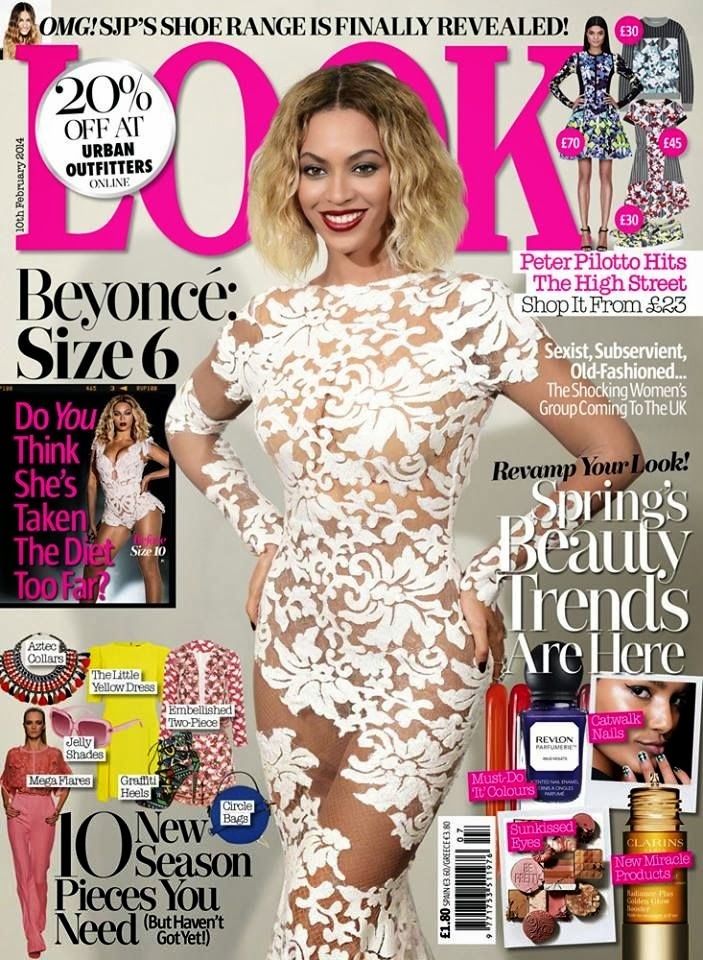 Beyoncé Knowles Photos from Look UK Magazine Cover February 2014 HQ Scans